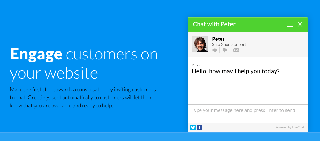 live chat growth hack