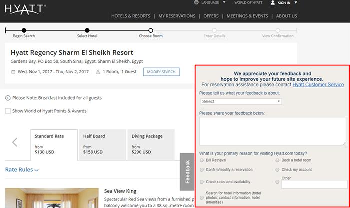 customer feedback example