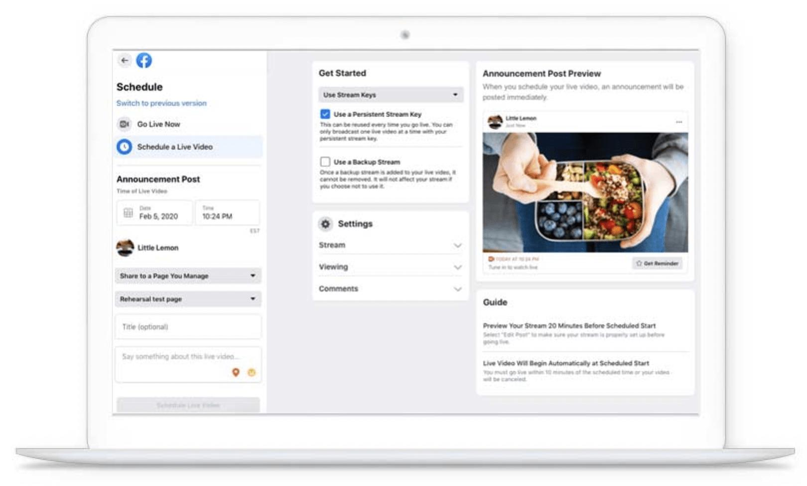 customer engagement Facebook live